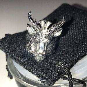Rebel Saint Baphomet Ring